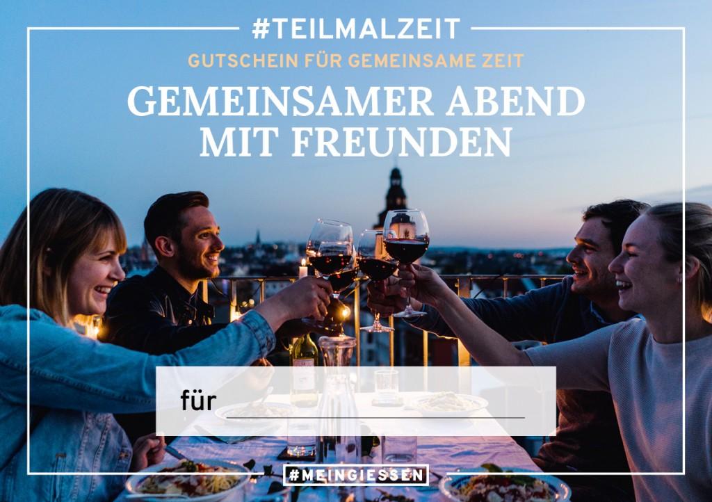 """#TEILMALZEIT – """"Gemeinsamer Abend mit Freunden"""""""