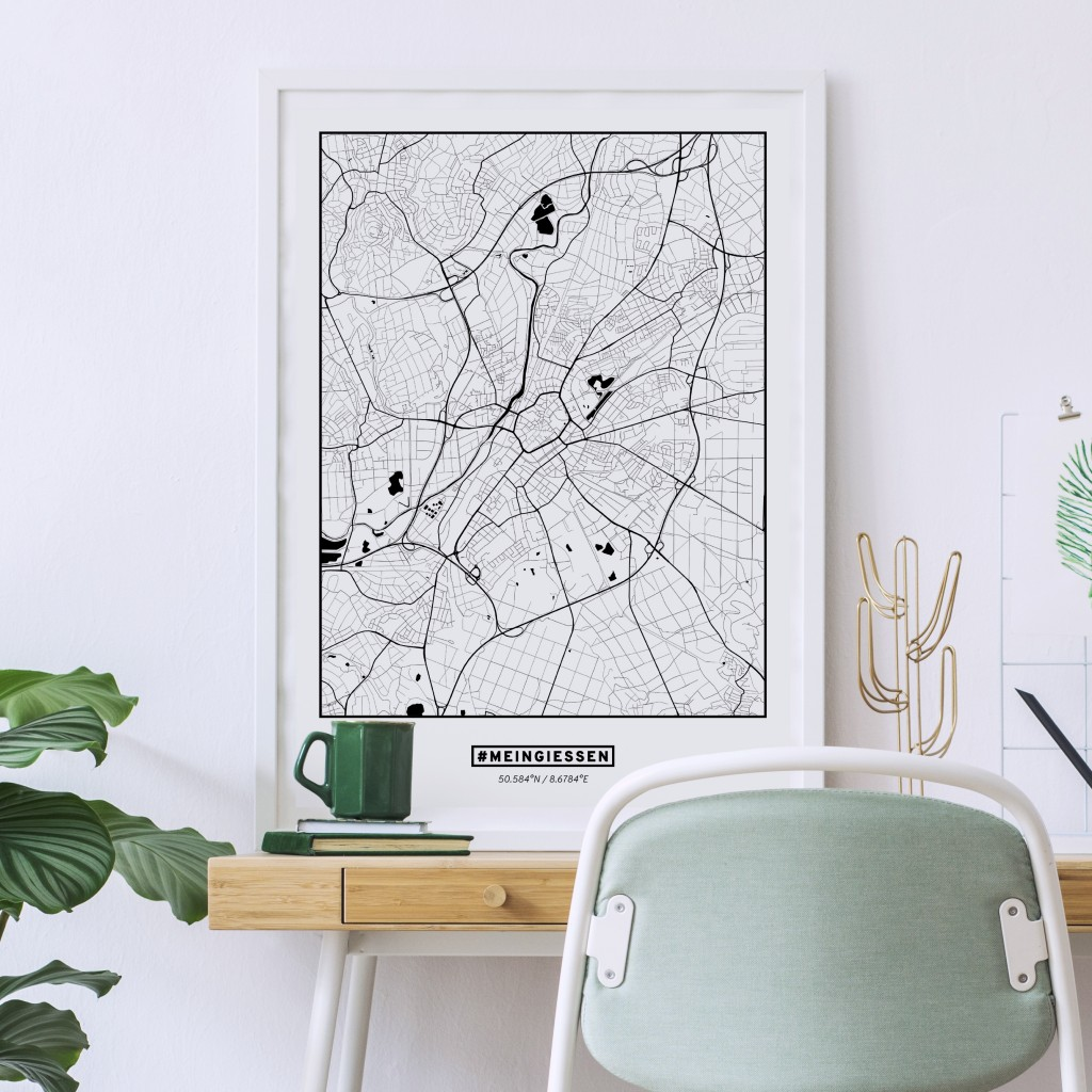 Poster Gießen Stadtkarte