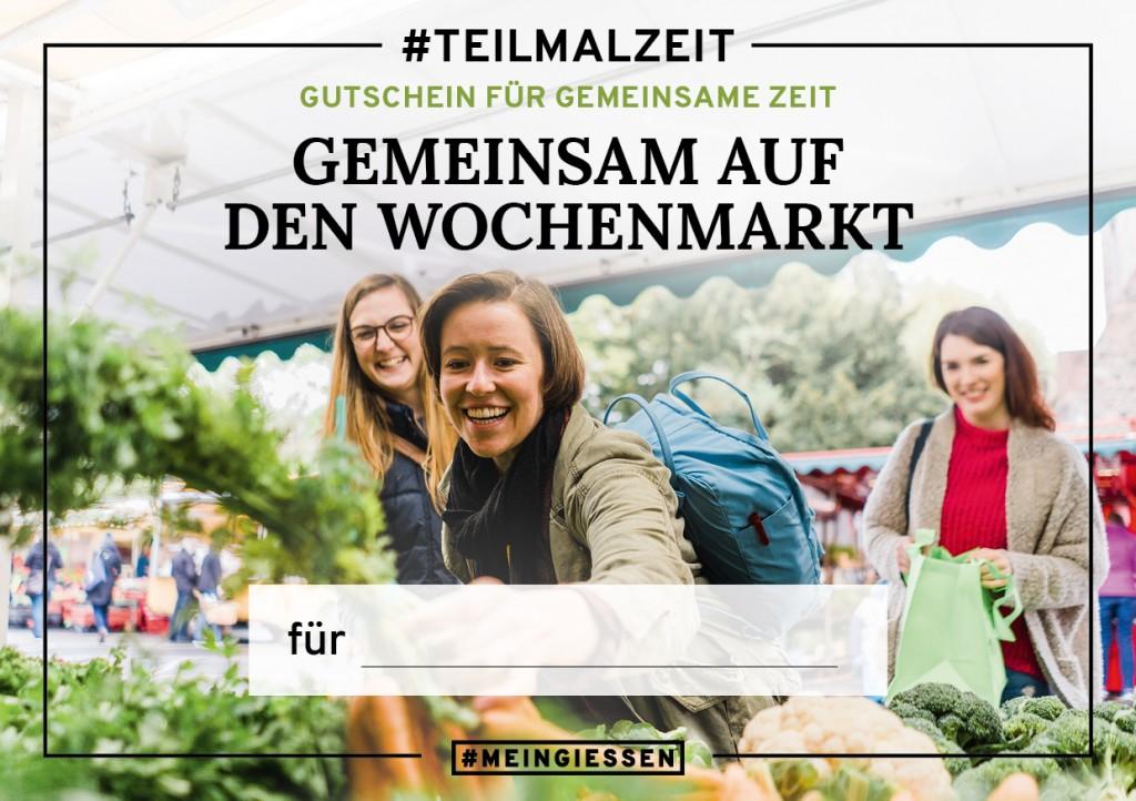 """#TEILMALZEIT – """"Gemeinsam auf den Wochenmarkt"""""""