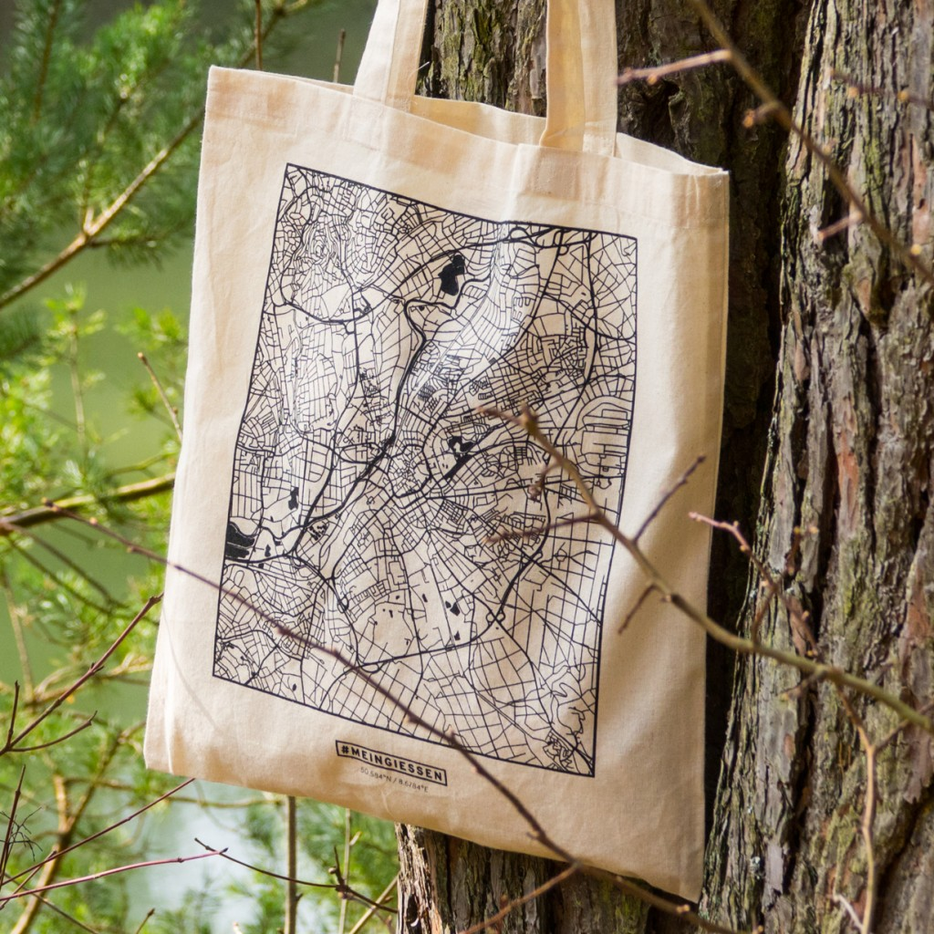Stadtplan Gießen als Tasche