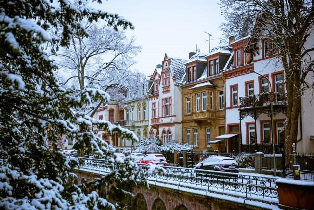 Schnee in der Löberstraße Gießen