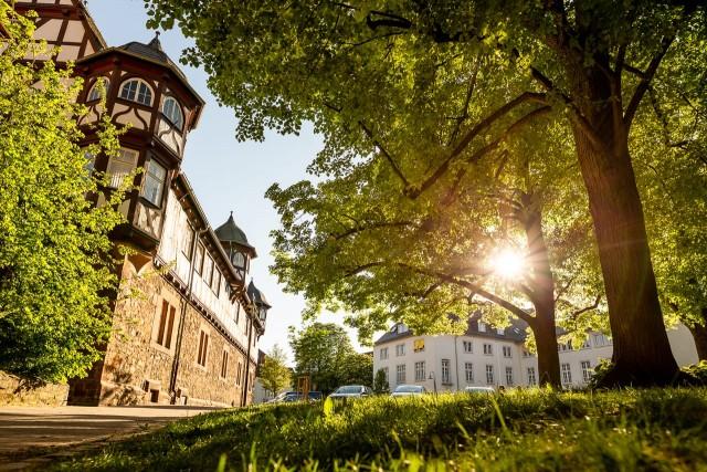 Abendsonne am Neuen Schloss in Gießen